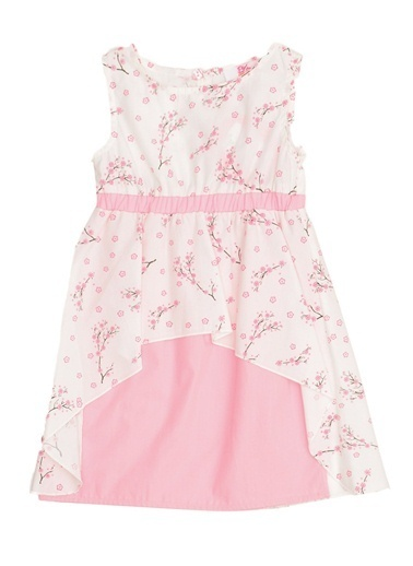 Pink&Orange Elbise Beyaz